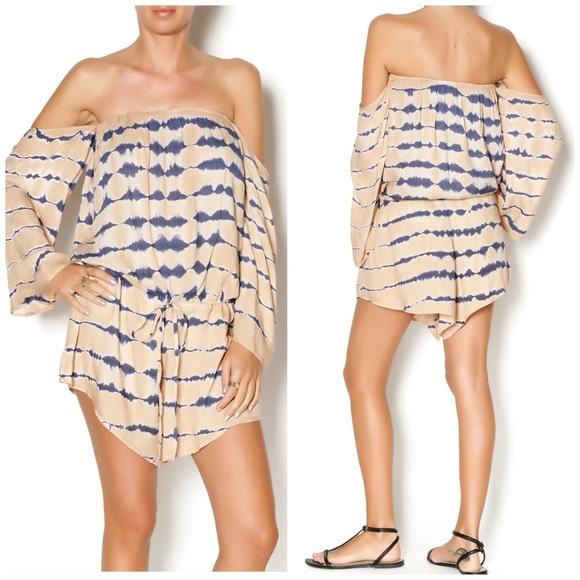 811fc5bb012e Elan Pants - Elan Tie Dye Off The Shoulder Boho Romper